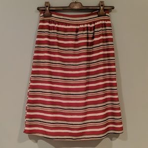 Everly colorful striped shirt small built in slip
